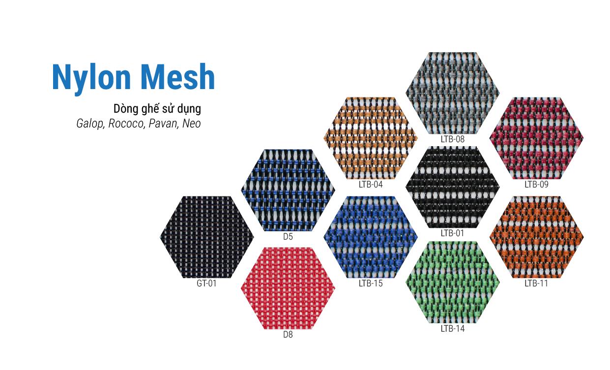 Xem bảng màu Nylon Mesh