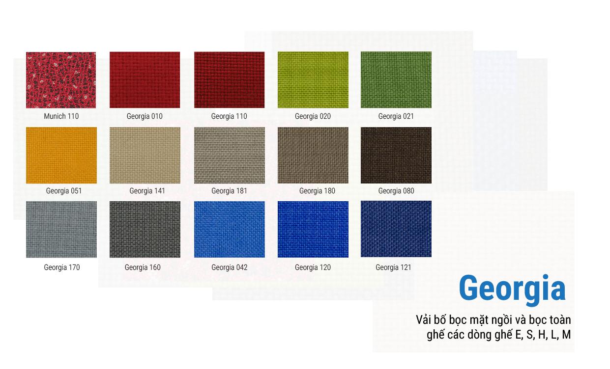 Xem bảng màu vải Georgia